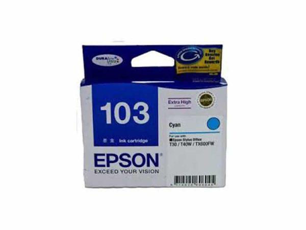 Genuine Epson 103 XL Cyan