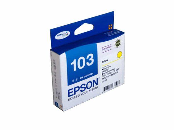 Genuine Epson 103 Yellow XL
