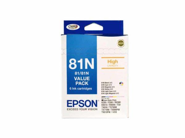Genuine Epson 81N Value 6 Pack