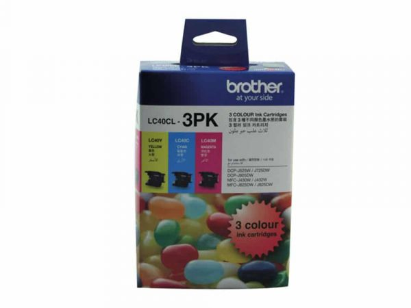 Genuine Brother LC40 CMY Colour Pack