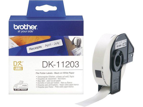 Genuine Brother DK11203 300 17 x 87 mm Folder Labels