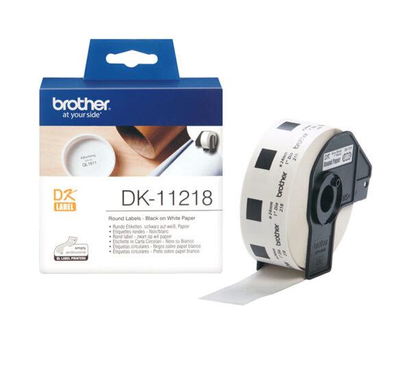 Genuine Brother DK11218 1000 24mm x 24 mm Round Labels