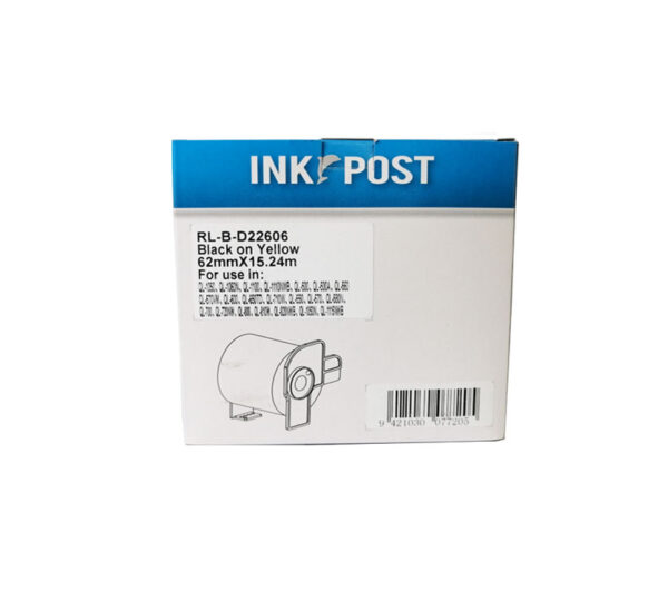 Genuine Brother DK22606 Continuous Length Film Yellow Tape  62mm x 15.24 metres