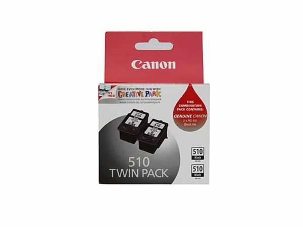 Genuine Canon PG510 Black Twin Pack