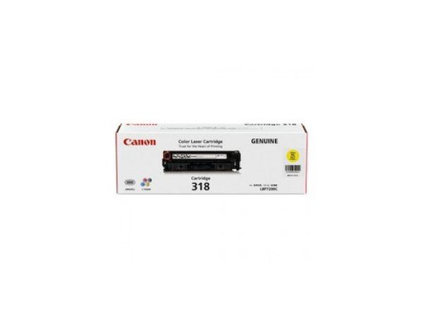 Genuine Canon CART318 Yellow Toner