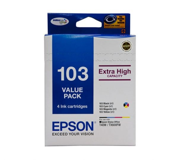 Genuine Epson 103 High Yield Value Pack