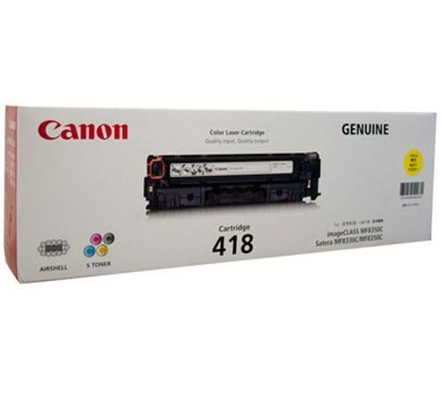 Genuine Canon CART418 Yellow Toner