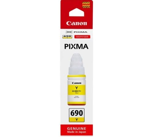 Genuine Canon GI690 Yellow Ink Bottle