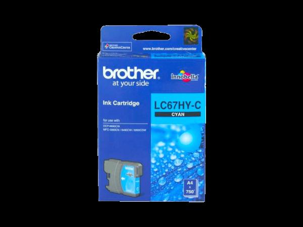 Genuine Brother LC67 Cyan High-Yield