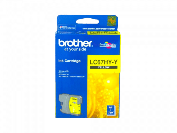 Genuine Brother LC67 Yellow High-Yield